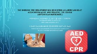 Wheeling Fire Department CPR class